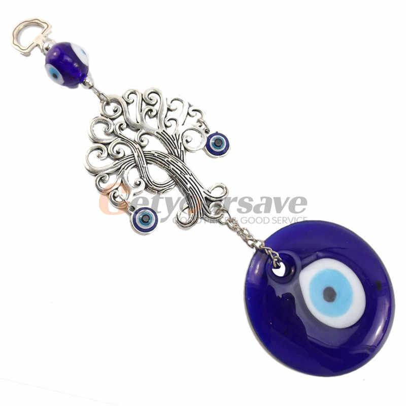 Turquie yeux bleus souhaitant arbre ornements vie arbre Talisman décor à la maison musulman mal ville maison sûre voiture ornement démon