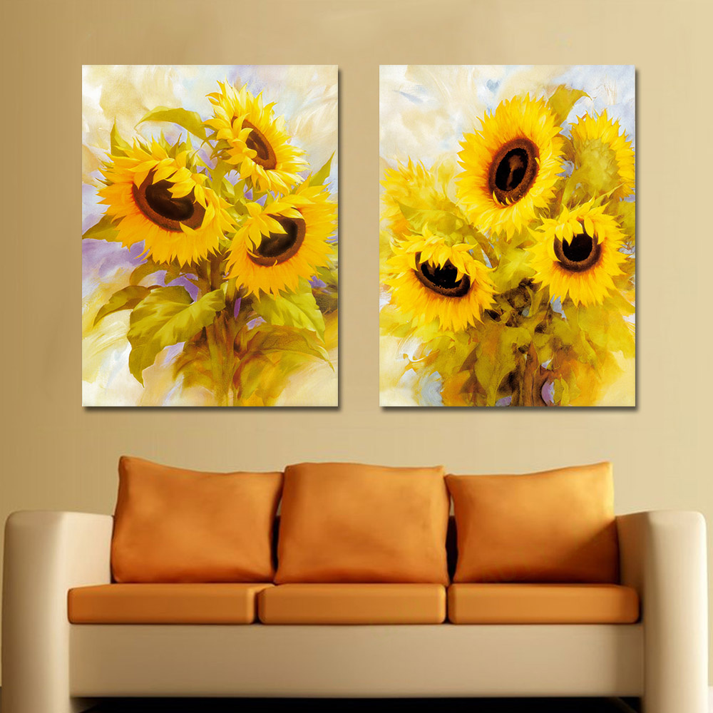 2 Pieces Large Canvas Painting Wall Pictures For Living Room ...