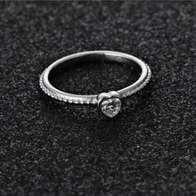 white color ring fashion bijour design cz stone rings for girl as best gift