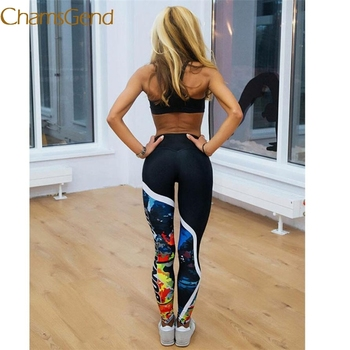 Durable 2017 hot leggings Fitnes Workout Women Printted  Skinny Fitness Stretchy Pants Leggings