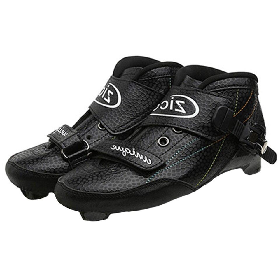 Bottes pour patins à roues alignées de vitesse chaussures supérieures en Fiber de carbone taille 30-45 Patines de course similaires Powerslide pour enfants adultes