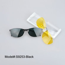 S9253 New Designer Cat Eye Double Lens Sunglasses Clip and night vision clip Optical frame Sun Glasses sunshades