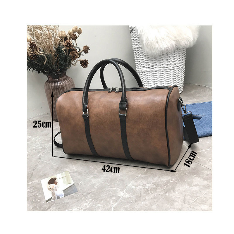 GYKZ Vintage Leather Outdoor Travel Duffle Bags Women and Men Sport Gym Bag  For Fitness Support Custom Sport Shoulder Bags HY112-in Gym Bags from Sports  ... 9c6be36d86d9a