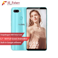 ZTE Nubia Z18 mini Android 8.1.0 6G RAM 64 ROM Mobile Phone Snapdrogon 660 AIE 5.7Inch Full Screen Fingerprint 4GLTE Smartphone
