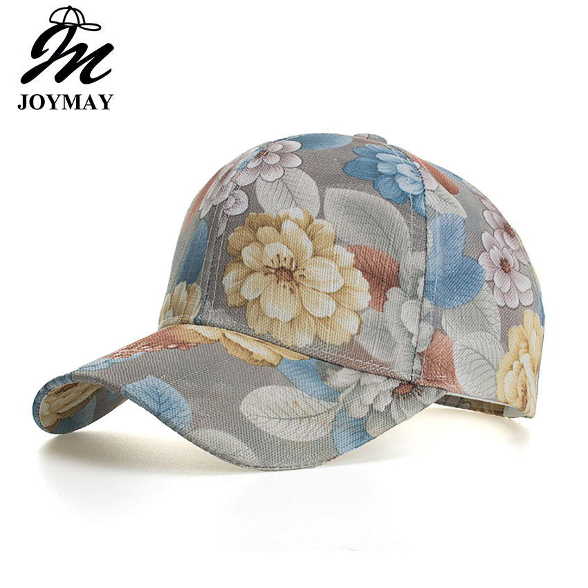 Joymay New arrival Mesh   Baseball     Cap   Women Floral Snapback Summer Mesh Hats Casual Adjustable   Caps   Drop Shipping Accepted B554