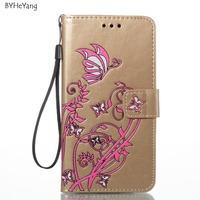 BYHeYang PU Leather Case For US Version LG K8 2017 LV3 MS210 Filp Cover 5 0inch