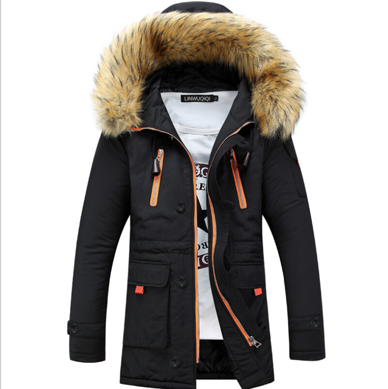 Mens Winter Jackets And Coats  More Men's Fashion to Keep Warm  Leisure Plus-size Hooded  Parka Men Winter Winter Jacket Men