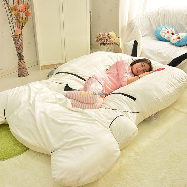 Fancytrader 270cm X 160cm Giant Soft Plush Stuffed Double Size Rabbit Bunny Mattress Carpet Tatami Bed, FT50680 (5)