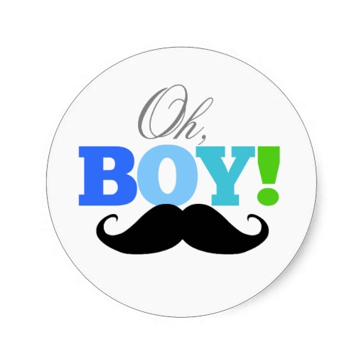 3 8cm Oh Boy Mustache Baby Shower Invitations Sticker In Stickers