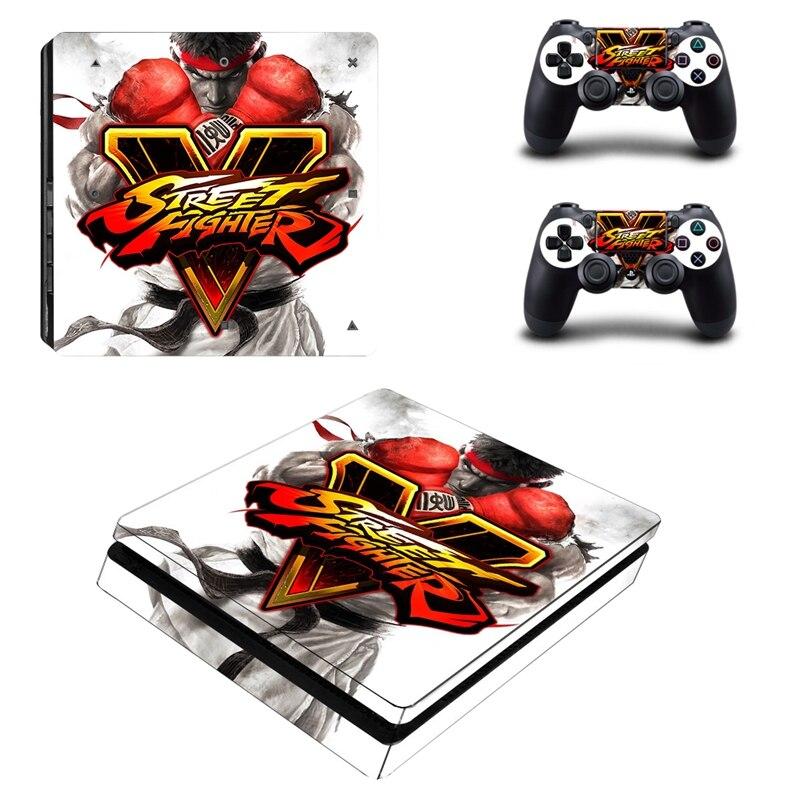 Sticker Autocollant Street Fighter V pour Console PS4 et Dual Shock 4