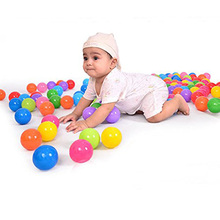100pcs/lot Eco-Friendly Colorful Soft Plastic Ball  Pits Ocean Wave Ball Baby Funny Toys Stress Air ball Outdoor Fun Sports
