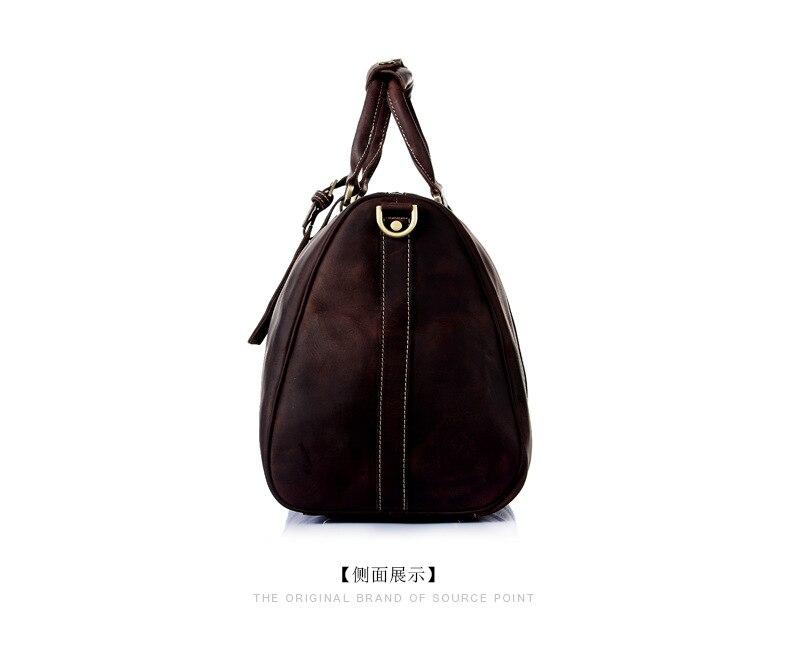 homens viajam sacolas de couro Composição : Cowhide Leather