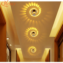 Ceiling light Modern LED Light RGB 7colors Remote control wall Sconce Aluminum ceiling decoration house lighting fixtures lamp(China)