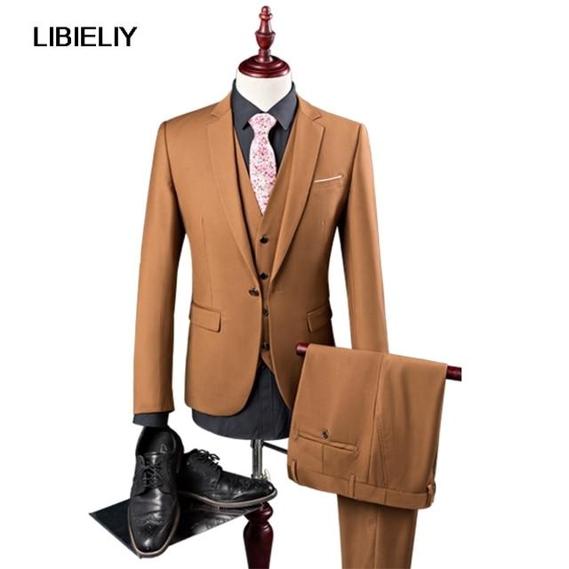 35561475ef 2 piezas chaqueta set primavera nueva ropa formal hombres traje coreano  slim fit boda vestido casual. Sitúa el cursor encima para ...