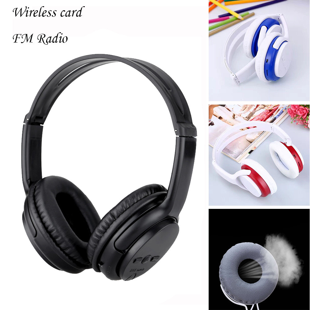 Wireless Headphones Headset Noise Cancelling Earphone For Card TF And FM Radio Gaming Mp3 Music  Drop Shipping