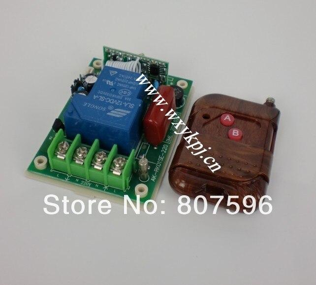 1 Pieza de Interruptor de Control Remoto Inal/ámbrico de AC 12-72V 30A 315Mhz con 1 pieza de Control Remoto