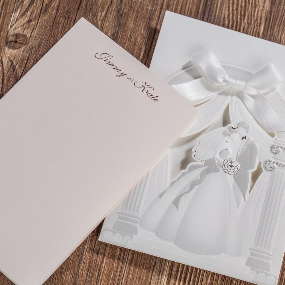 WISHMADE cw5198 white church desugn elegant wedding invitation card ...