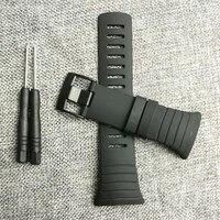 New Watch Accessories Black Rubber Strap Black Waterproof Durable Watch For SUUNTO Core Strap Men S
