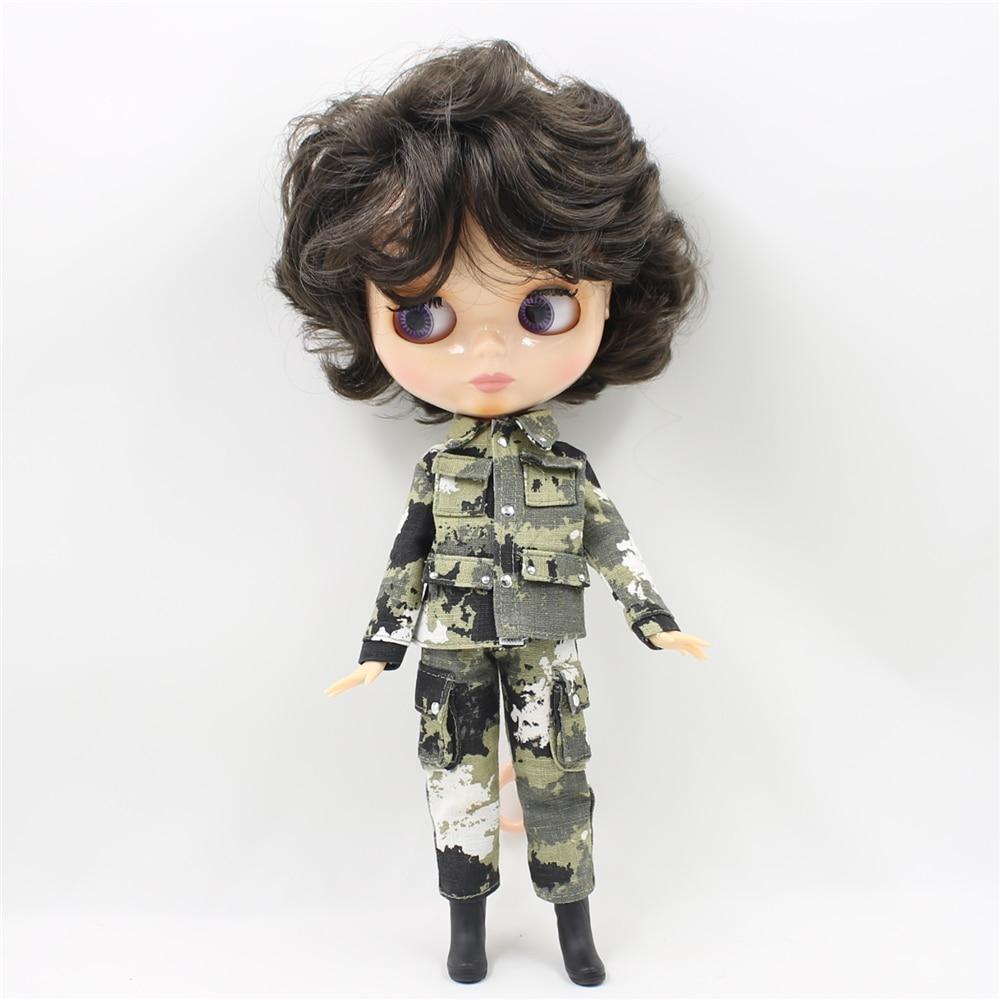 nude Blyth doll with Joint body 30cm fashion black short hair doll DIY makeup 1/6 bjd blyth dolls for girls 12 blyth nude doll k 180 black hair bjd blyth doll for sale