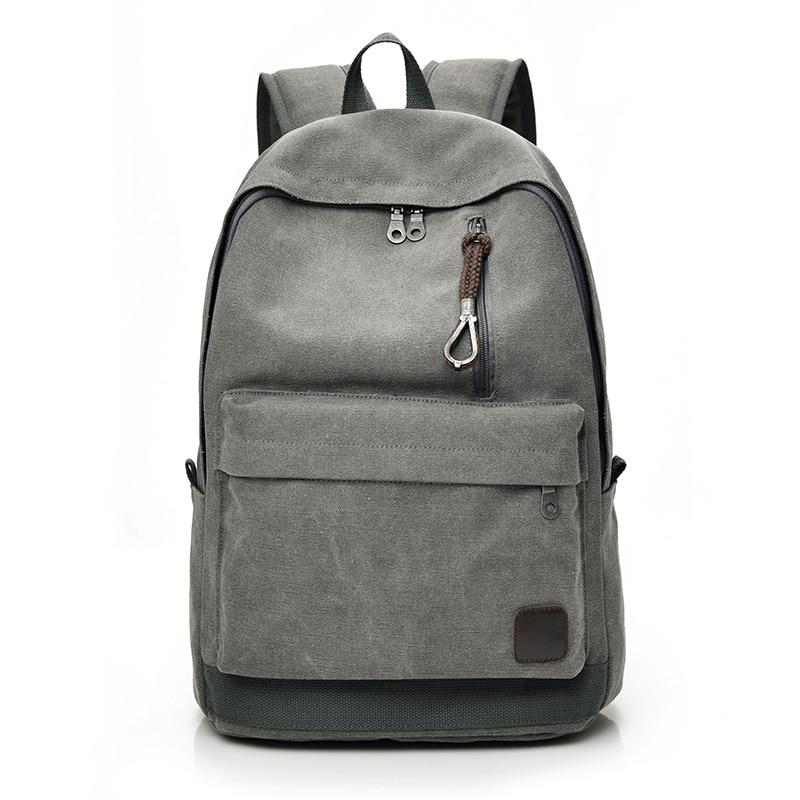 DIDA BEAR 2017 Women Men Canvas Backpacks Large School Bags For Teenager Boys Girls Travel Laptop Backbag Mochila Rucksack Grey