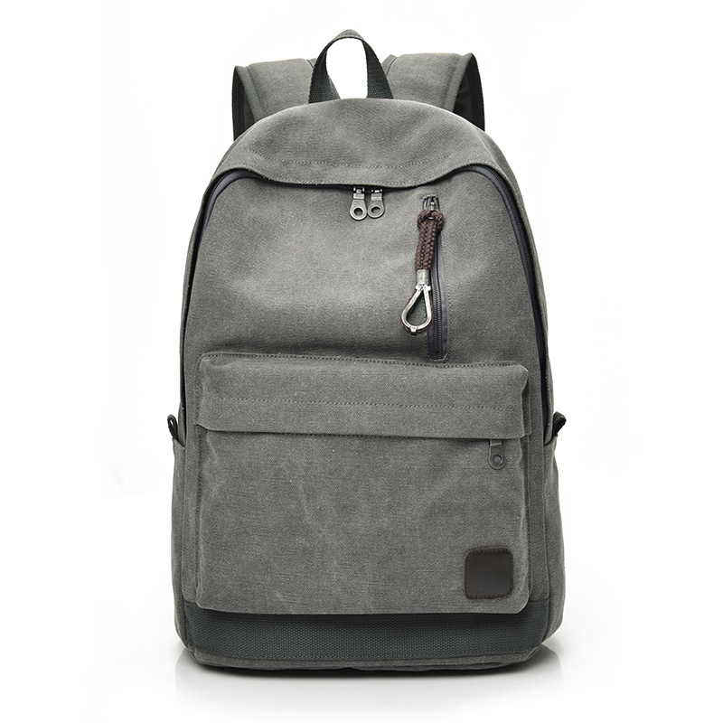 DIDA BEAR 2018 Women Men Canvas Backpacks Large School Bags For Teenager Boys Girls Travel Laptop Backbag Mochila Rucksack Grey dida bear fashion canvas backpacks large school bags for girls boys teenagers laptop bags travel rucksack mochila gray women men
