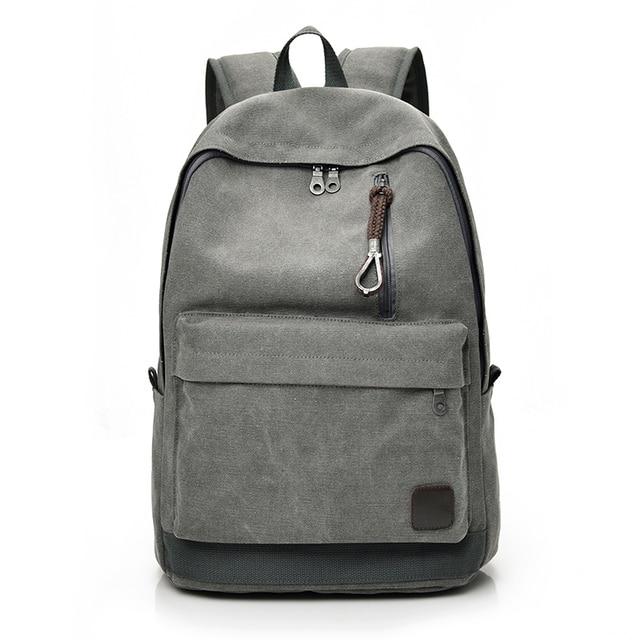 dbefe8b3e4e1 DIDA BEAR 2018 Women Men Canvas Backpacks Large School Bags For Teenager  Boys Girls Travel Laptop Backbag Mochila Rucksack Grey