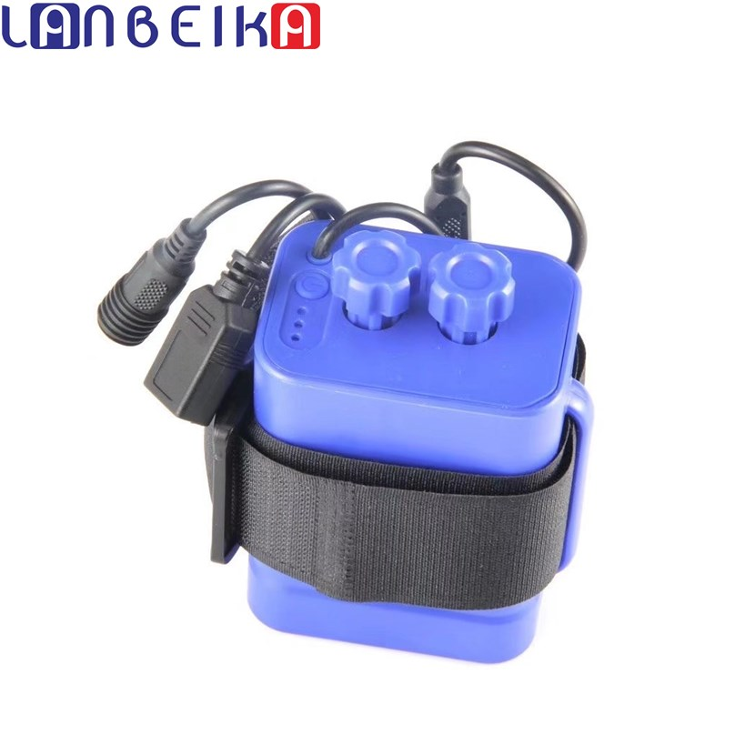 LANBEIKA Ordinary Waterproof 6*18650 Battery Holder for Bike LED Light Plastic Storage Box Case Layers Wire Lead Rechargable