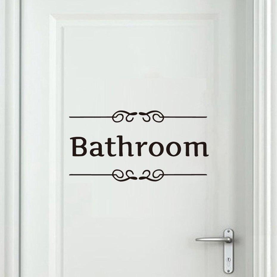 dctop classic vintage bagno wc adesivi per porte nero bagno bagno wc avviso impermeabile adesivo in