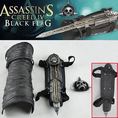 Hot Assassins Creed IV 4 Black Flag Pirate Hidden Blade Edward Gauntlet Cosplay Replica Props Collectibles