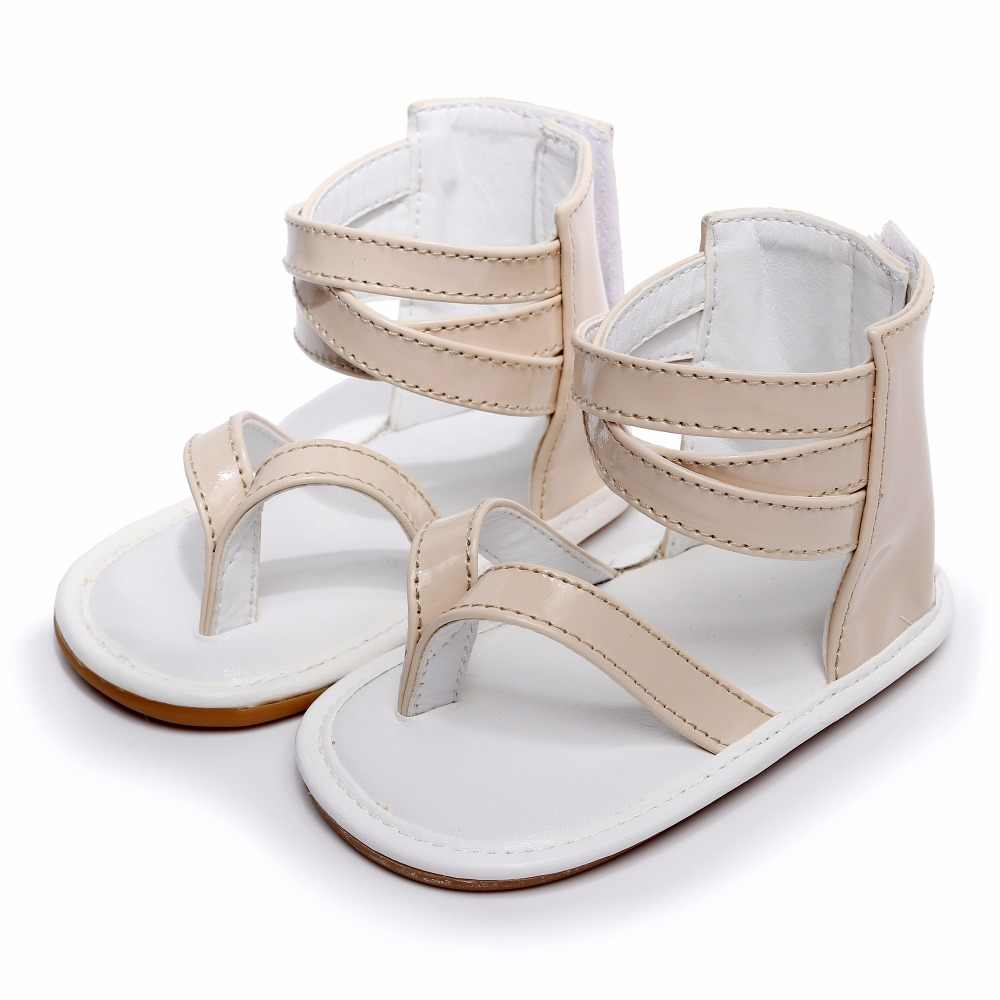 b984dba4a71d ... Anti-slip Hard Sole Baby Roman Sandals girls boys Summer baby Crib  Shoes T style ...