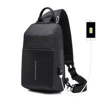 LHLYSGS Men Fashion Anti thief USB Recharging Shoulder Bag Burglarproof Crossbody Bag For Travel Digital Storage Chest Bags