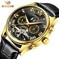 Binssaw 2016 esporte relógios homens marca de luxo homens mecânicos turbilhão relógio fashion business casual relógio de pulso relogio masculino