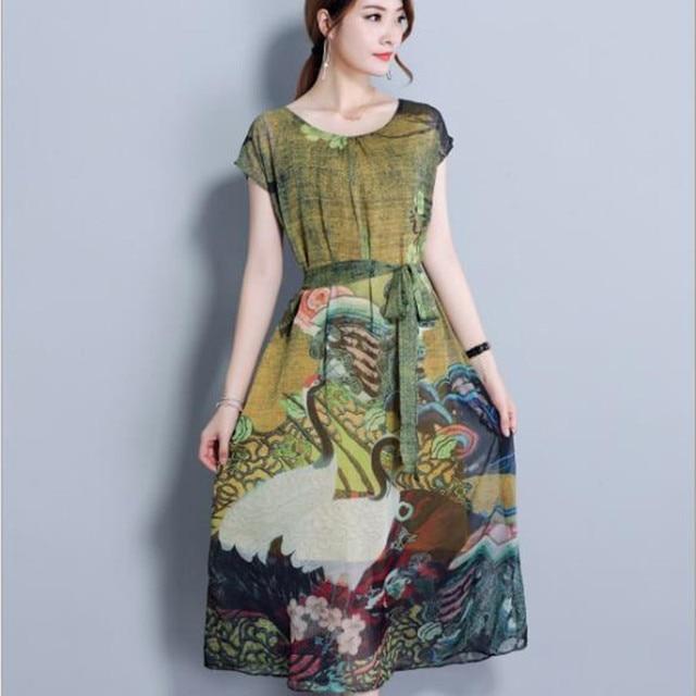 9f93ab4791 Plus Size 5XL Vintage Print Maxi Long Dress Women Retro Summer Dress Robe  Femme Party Beach Dress Vestidos Ladies Dresses QC528