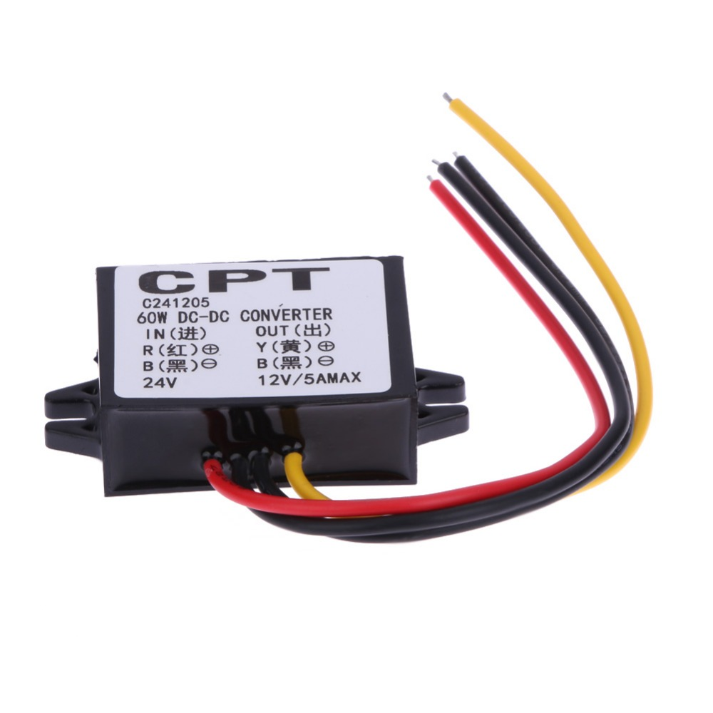 Car Inverter Converter 24V To 12V 5A 60W Step Down Module DC To DC Buck Module Sturdy and Durable Inverter Car Styling