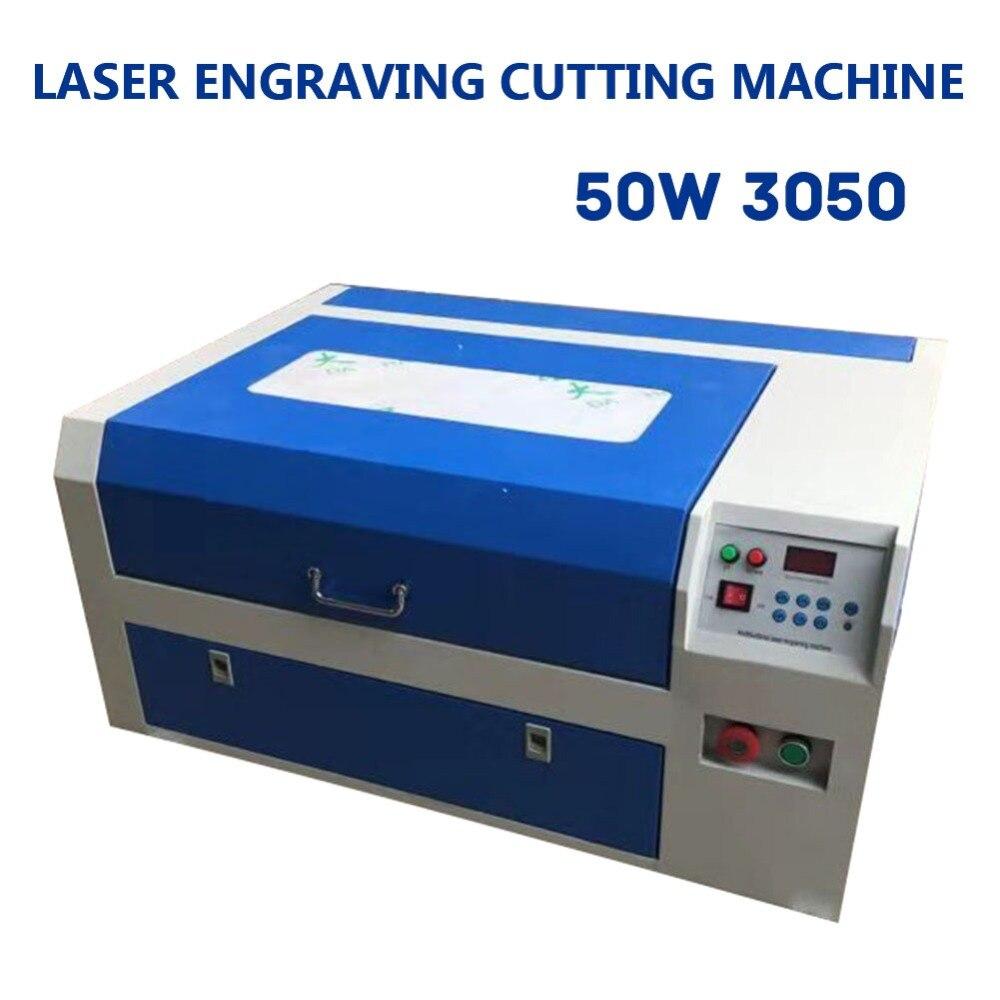 Mise à jour 50 W CO2 Laser graveur Cutter gravure Machine de découpe 20