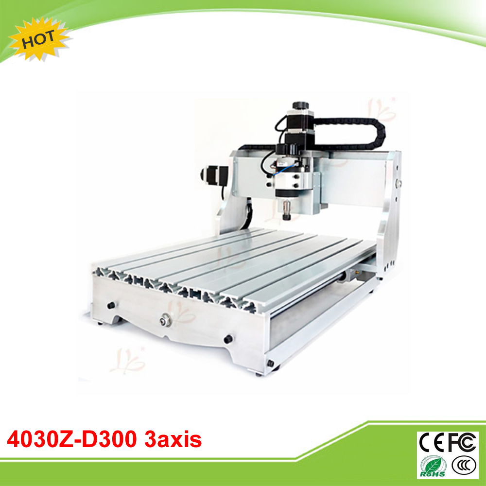 4030Z-D300W 3axis CNC milling machine with ball screw 300W spindle for wood working free tax to EU free tax to eu high quality cnc router frame 3020t with trapezoidal screw for cnc engraver machine