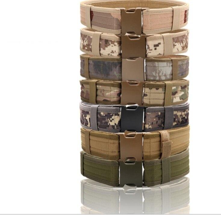 Prix pour Tactique Multicam Militaire de L'armée des Hommes Ceinture Camouflage MOLLE Rembourré Taille Ceinture Hommes Airsoft Combat Ceintures Mâle