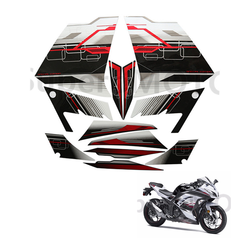 3M Stickers Decal for Kawasaki Ninja300 ninja 300 2013 2014 Whole Car Sticker Motorcycle Fairing Stickers