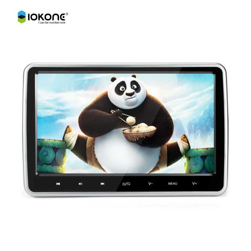 10.1 inch HD 1024 * 600 touch Screen auto Car Headrest monitor DVD Player TFT LCD Monitor with Game disk USB SD Remote Control 7 inch car headrest dvd player lcd monitor with usb sd 32 bit game ir fm tv optional touch screen and digital screen for car