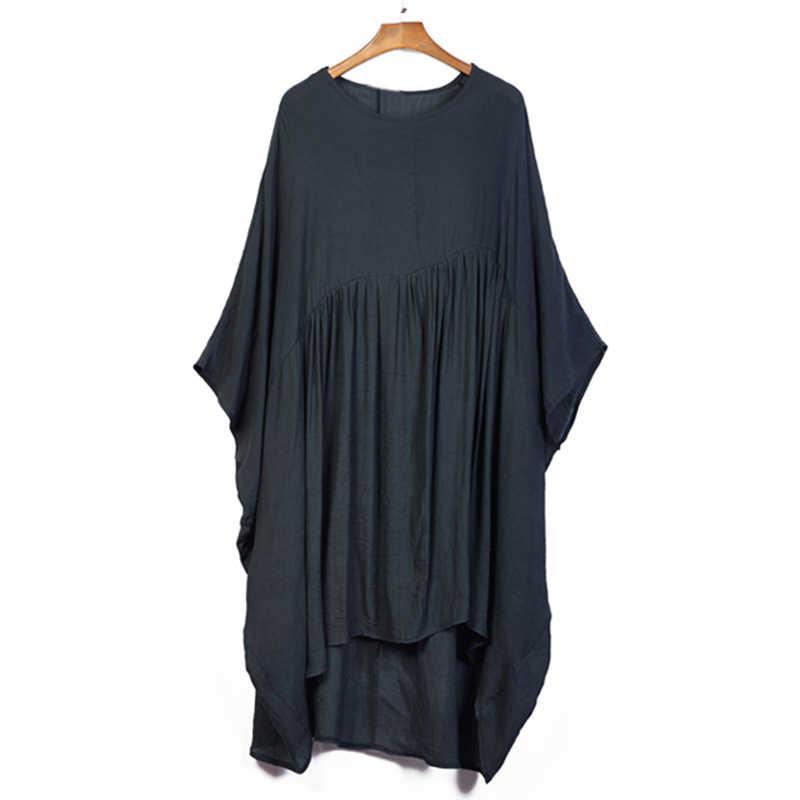 Oladivi/женское шифоновое платье больших размеров, большие размеры, летнее платье, Женский Большой Топ, туника, черная рубашка, платья 10XL 8XL