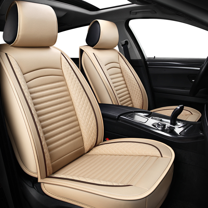 ( Front + Rear ) PU Leather car seat covers for <font><b>acura</b></font> <font><b>mdx</b></font> rdx zdx jaguar f-pace xf xj xjl x351 honda XR-V <font><b>2002</b></font> 2003 2004 2005 image