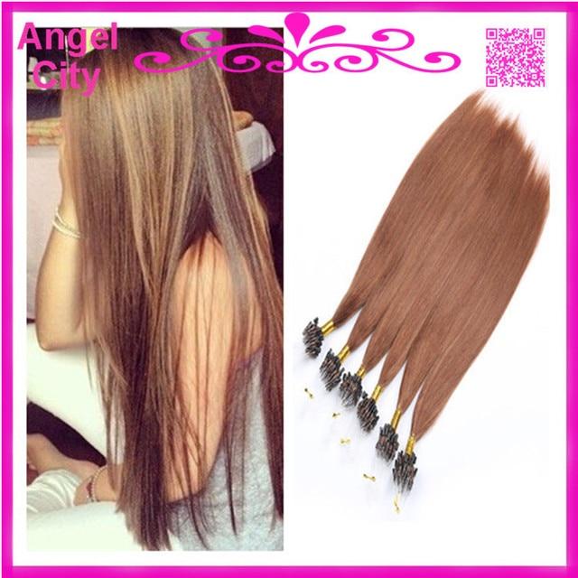 Cheap Micro Loop Ring Hair Extensions Brazilian Hair Pre Bonded
