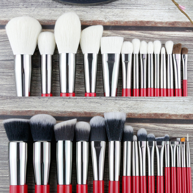 30pcs Professional Makeup Natural Hair Brushes Set
