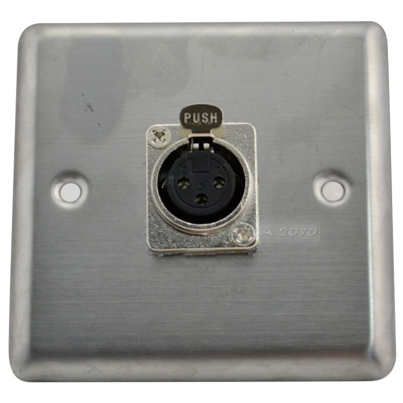 Stainless Steel Wall Plate Panel 1 Xlr 3 Pin 3p Socket