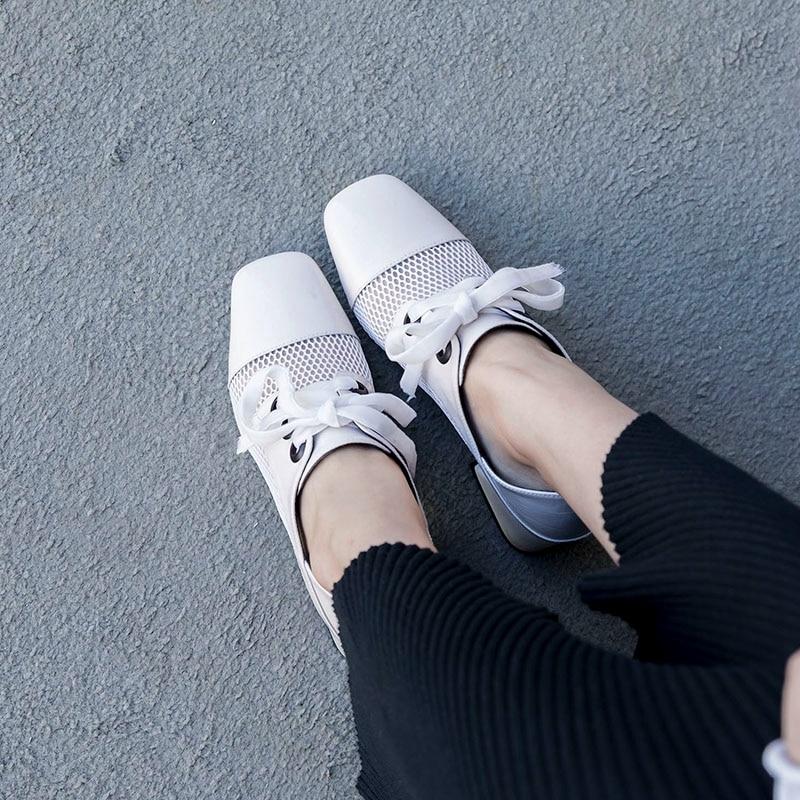 Con Las Lujo negro Sexy Primavera Nueva Blanco Otoño Beige Cuero Bombas Mujeres Cordones Hueco Mujer De Zapatos Genuino Negro Holgazán 5tRSnqwqx