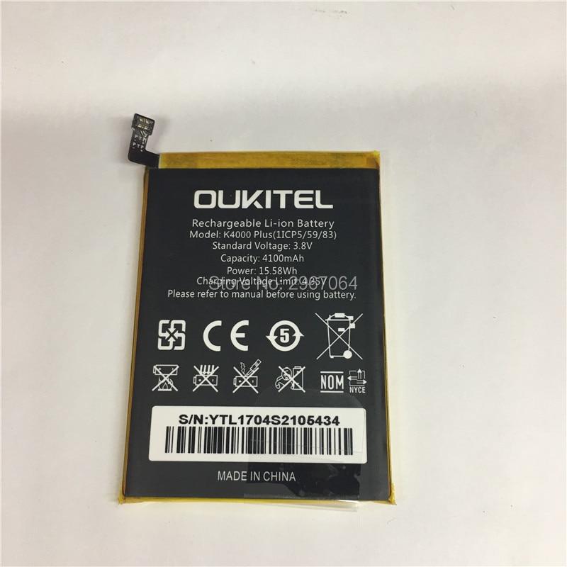 Mobile phone battery OUKITEL K4000 plus battery 4100mAh Original battery Mobile Accessories High capacit OUKITEL phone battery
