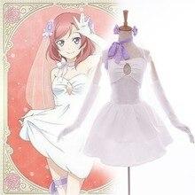 Anime Love Live! Ídolo Proyecto escuela Despertar Maki Nishikino Cosplay Vestido de Novia de la dama de Honor Amor Vivo Cosplay