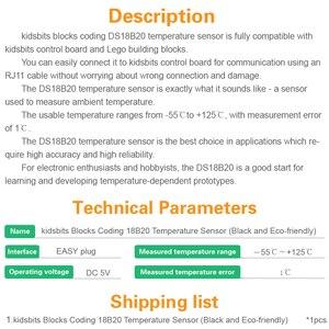 Image 5 - Kidsbits блоки кодирования 18B20 Модуль датчика температуры для Arduino паровой EDU (черный и экологически чистый)