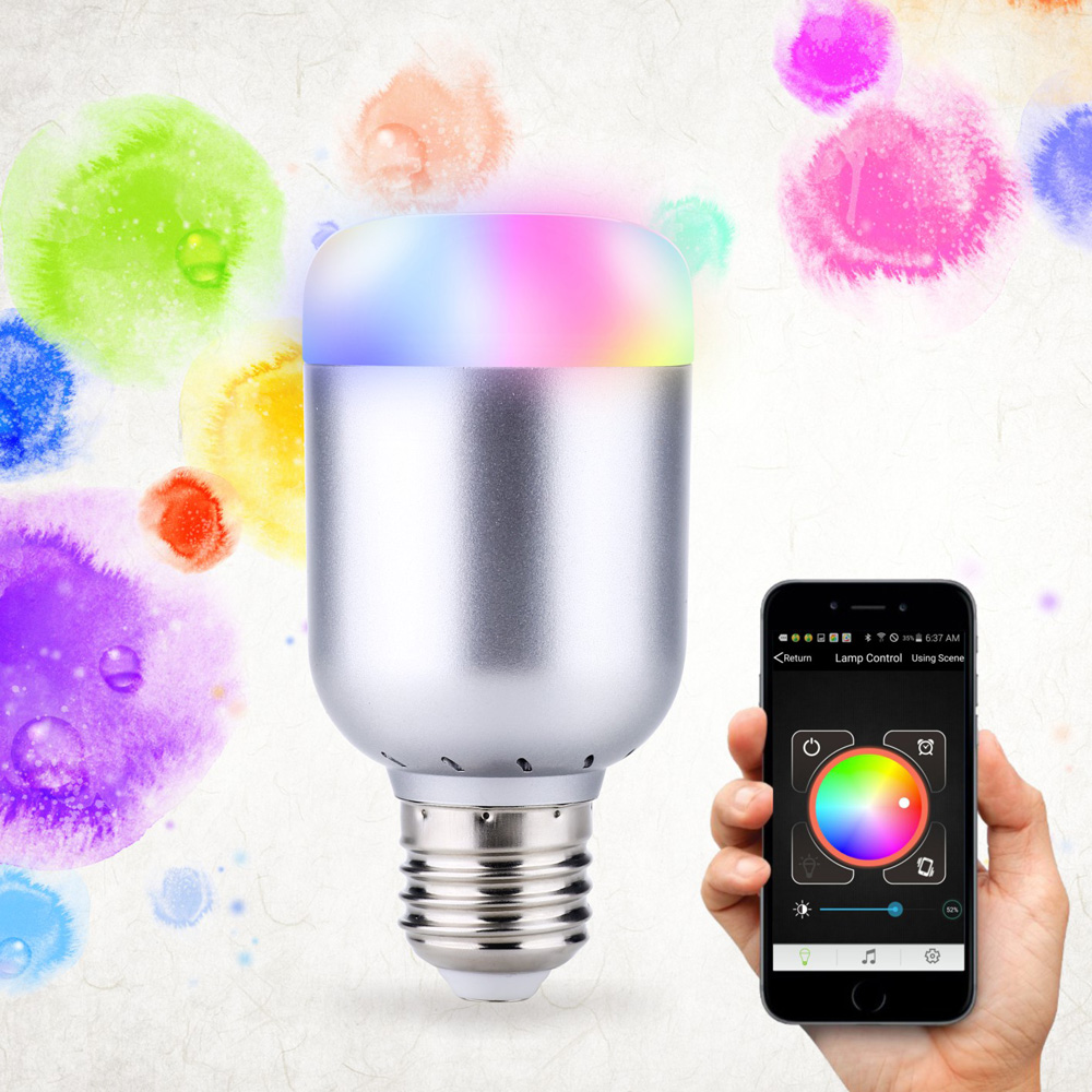 Lights & Lighting Led Bulbs & Tubes Bluetooth Led Bulb E27 Rgbw 6w Bluetooth 4.0 Smart Led Light Timer Color Changeable By Ios Android App For Entertain&decor