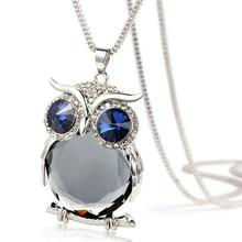Best Pendant Rhinestone Owl Necklace Cheap